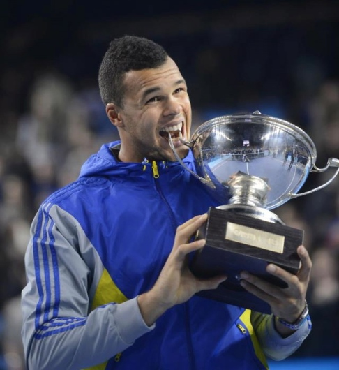 Jo-Wilfired Tsonga wins his 10th ATP title. (Photo credit: Getty Images)