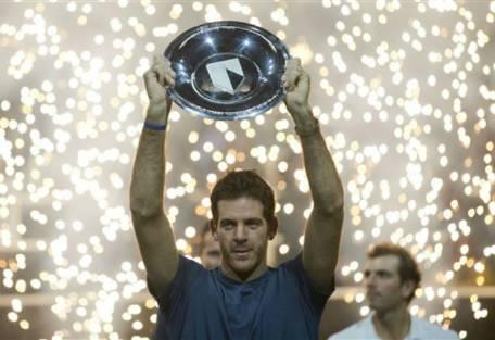 Juan Martin del Potro win his 14th ATP Tour title in Rotterdam. (Photo credit: Getty Images)
