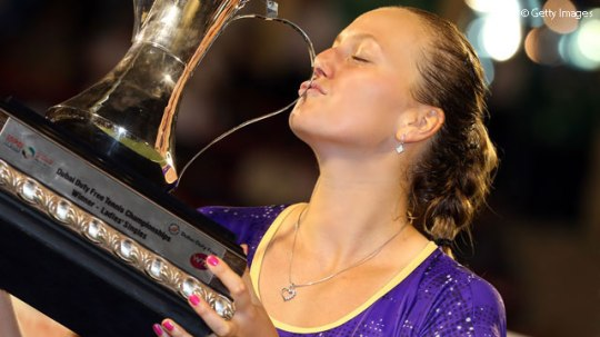 Petra Kvitova defeated Sara Errani in the final in Dubai. (Photo credit: Getty Images)
