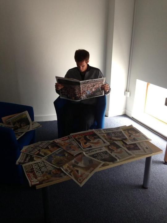 This may be one of few occasions where Andy Murray has enjoyed reading about himself in the papers.
