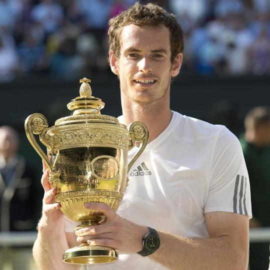 Congratulations to Andy Murray, Wimbledon Champion.  Photo: The Sun