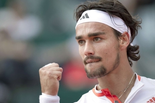 Fabio Fognini saves two match points to edge the win.